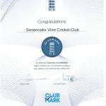 2010 Clubmark Certification URN 1594