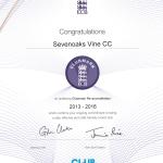 2013-2016 Clubmark certificate