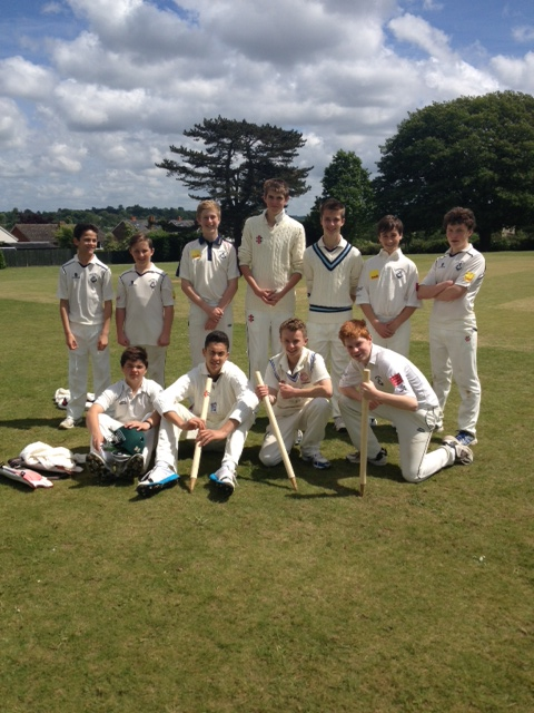 Victorious SVCC U15 side against Speldhurst