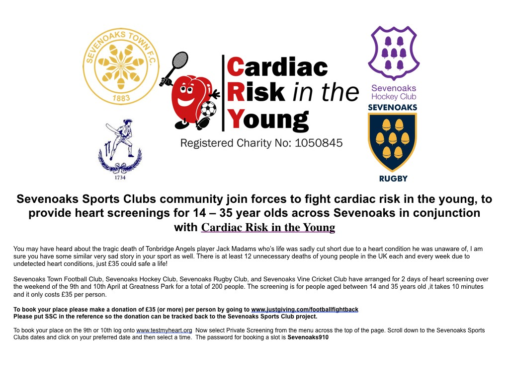 sevenoaks sports heart screening